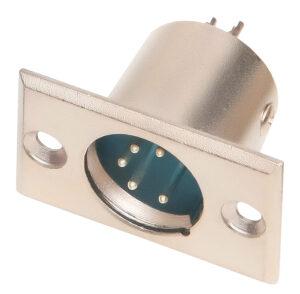 Conector Canon Macho 5 pinos