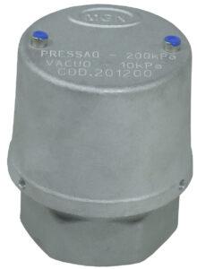 Válvula de Vácuo 10 kPa e Pressão 200 kPa - Teflon
